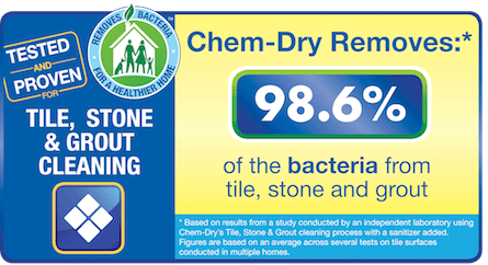 Chem-Dry's Stone, Tile & Grout Cleaning Removes 98.6% of Bacteria From Tile