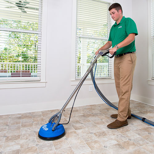 Chem-Dry Clearwater/Largo Technician Providing Stone, Tile and Grout Cleaning